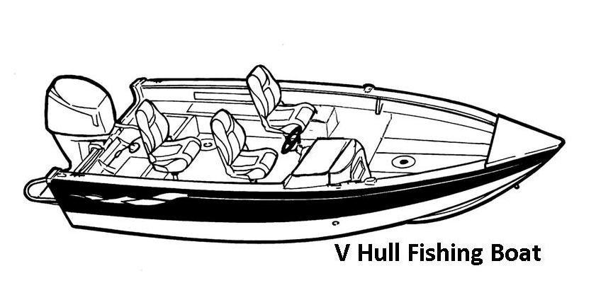 V-Hull Fishing Boat